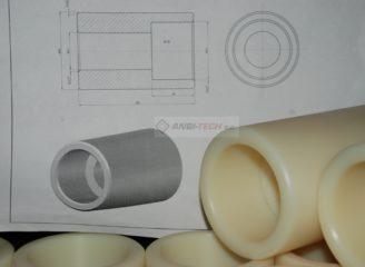 Toczenie CNC Deatale toczone z Poliamidu PA6
